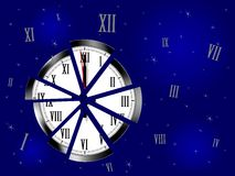 Fragmented time - cdr format Stock Photo