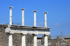 Fragmenten van de ruïnes van Pompei De oude Roman stad in Italië stierf aan uitbarsting van de Vesuvius Royalty-vrije Stock Afbeeldingen