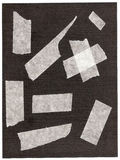 Fragmenten van een kleverige band. Stock Afbeelding