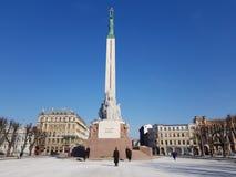 Fragmentera övredelning Riga den kulturella huvudstaden av Europa i 2014 royaltyfri foto