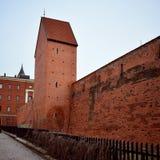 Fragmentet av den historiska väggen av Riga Arkivfoton