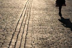Fragmentet av en trottoar Arkivbild