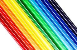 Färga markörer Arkivfoto