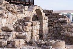 Fragmentet av kloster av St Euthymius fördärvar lokaliserat i Adumim för mor`-öl den industriella zonen i Israel Royaltyfri Foto