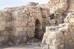 Fragmentet av kloster av St Euthymius fördärvar lokaliserat i Adumim för mor`-öl den industriella zonen i Israel Arkivfoton