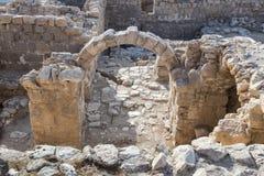 Fragmentet av kloster av St Euthymius fördärvar lokaliserat i Adumim för mor`-öl den industriella zonen i Israel Arkivfoto
