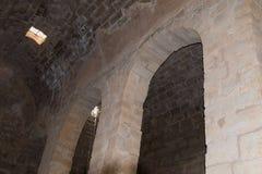 Fragmentet av kloster av St Euthymius fördärvar lokaliserat i Adumim för mor`-öl den industriella zonen i Israel Arkivbild