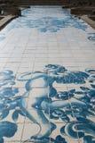 Fragmentet av väggen av Igreja gör Carmo i Porto, Portugal royaltyfri foto