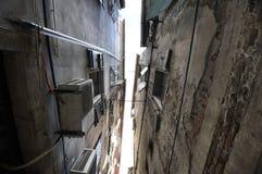 Fragmentfrontseite der Häuser Stockfoto