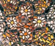 Fragmentmosaik Buntes Muster, Abschluss herauf Hintergrund Lizenzfreie Stockbilder