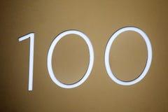 fragmentnummer för 100 sedlar Arkivfoto