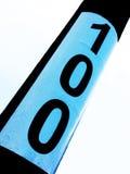fragmentnummer för 100 sedlar Fotografering för Bildbyråer