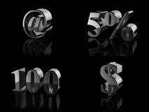fragmentnummer för 100 sedlar Arkivbild