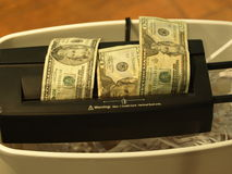 Fragmento 14 del dinero Fotos de archivo