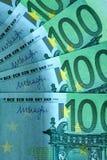 Fragmento abstrato a cédula de 100 euro Fotos de Stock Royalty Free