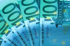 Fragmento abstrato a cédula de 100 euro Imagem de Stock Royalty Free