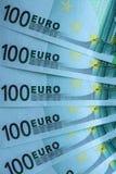 Fragmento abstrato a cédula de 100 euro Imagens de Stock Royalty Free
