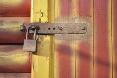 Fragmento bloqueado de la puerta Fotografía de archivo