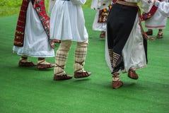 Fragmento brilhante da dança popular rápida de Romamian Imagens de Stock Royalty Free