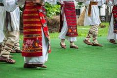 Fragmento brillante de la danza popular rápida de Romamian Imagen de archivo libre de regalías