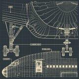 Fragmento civil del dibujo del jet libre illustration