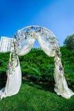 Fragmento creativo de adornado casandose el arco Fotografía de archivo