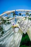 Fragmento creativo de adornado casandose el arco Imagen de archivo