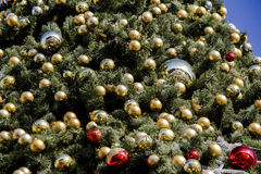 Fragmento da árvore de Natal Foto de Stock Royalty Free