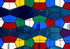 Fragmento da arquitetura colorida moderna Fotografia de Stock Royalty Free