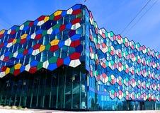 Fragmento da arquitetura colorida moderna Imagem de Stock