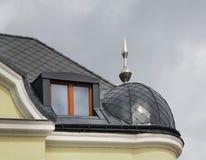 Fragmento da casa em Zilina slovakia fotografia de stock