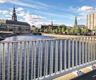 Fragmento da cidade de Copenhaga, Dinamarca fotografia de stock royalty free