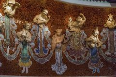Fragmento da decoração da cena do palácio do gato imagens de stock