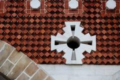 Fragmento da decoração no complexo do palácio de Tsaritsyno Imagem de Stock Royalty Free