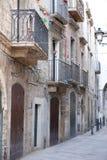 Fragmento da fachada de uma construção residencial velha Imagem de Stock Royalty Free