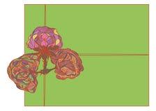 Fragmento da fantasia abstrata pintada da cor da flor ilustração stock