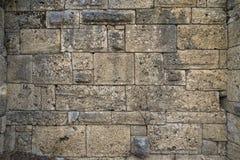 Fragmento da parede da construção do lycia antigo Fotos de Stock Royalty Free