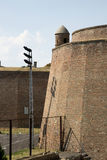 Fragmento da parede da fortaleza da fortaleza de Belgrado Fotografia de Stock
