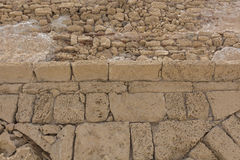 Fragmento da parede de pedra antiga. Imagem de Stock