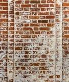 Fragmento da parede velha Fotos de Stock