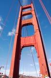 Fragmento da ponte de porta dourada Fotos de Stock Royalty Free