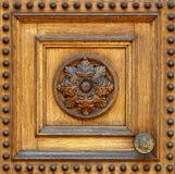 Fragmento da porta de madeira Fotografia de Stock Royalty Free