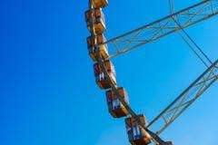 Fragmento da roda de Ferris Foto de Stock