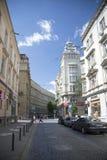 Fragmento da rua de Tadeusz Kosciuszko em Lviv Imagem de Stock Royalty Free