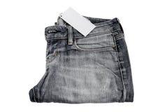 Fragmento da textura das calças de brim Fotografia de Stock