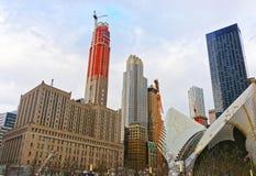 Fragmento das asas do cubo do transporte de WTC e do distrito financeiro Imagem de Stock Royalty Free