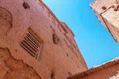 Fragmento de Ait Benhaddou Kasbah, Marruecos imagen de archivo