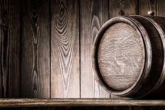 Fragmento de barriles de madera viejos Foto de archivo libre de regalías