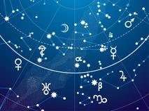Fragmento de Celestial Atlas astronómico ilustración del vector