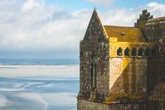 Fragmento de la abadía de Mont Saint-Michel Imágenes de archivo libres de regalías